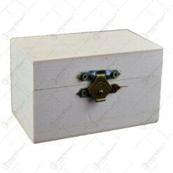 Cutie mini decorabila din lemn  8x4 CM- Hobby (Tip 1)