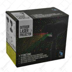 Proiector laser pentru interior si exterior - Design colorat rosu-verde