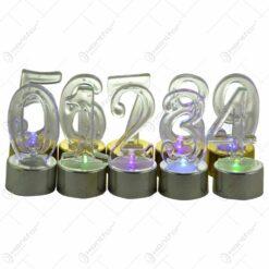 Set cifre realizate din plastic cu led
