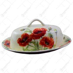 Untiera realizata din ceramica - Design cu floare de mac