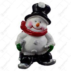 Set 2 decoratiuni pentru Craciun - Om de zapada pe schiuri