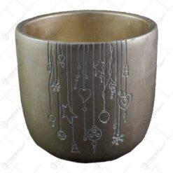Ghiveci realizat din ceramica - Auriu - 2 modele