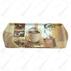 Tava realizata din material plastic - Design Coffe Shop 38x16 CM