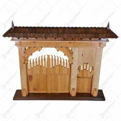 Poarta secuiasca sculpatata din lemn