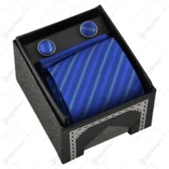 Set cadou pentru barbati - Cravata. batista si butoni manseta - Design Elegant - Diferite modele