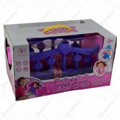 Set jucarie pentru fetite - Papusa in patut
