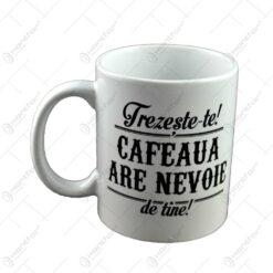 Cana Boss Mug - Treseste-te! Cafeaua are nevoie de tine!