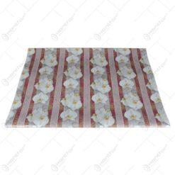 Set ambalaj realizat din hartie pentru cadouri - Design floral
