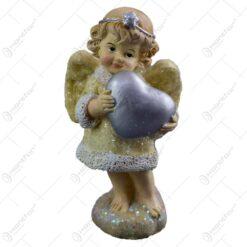 Figurina decorativa din rasina- Ingeras cu inima