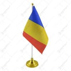 Set 12 steaguri pe suport cu talpa - Romania
