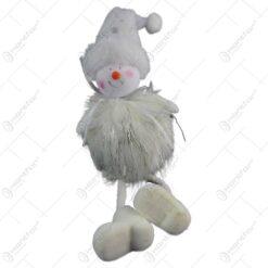 Figurina decorativa pentru Craciun realizata din material textil si blana artificiala - 2 modele (Model 1)