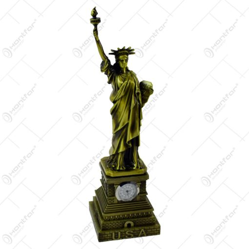 Statueta realizata din rasina cu ceas incorporat - Statuia Libertatii
