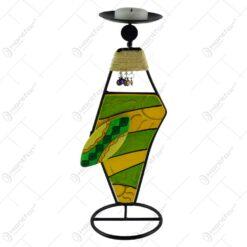 Suport pentru lumanari realizat din metal - Design figurina africana - Diverse modele