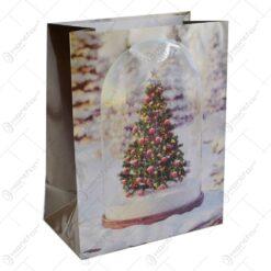 Punga pentru cadouri - Design cu brad (Model 1)