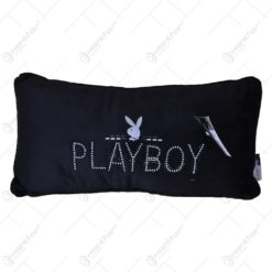 Perna decorativa - Design Playboy cu pietre decorative - Design Playboy cu pietre decorative - Negru (Model 2)