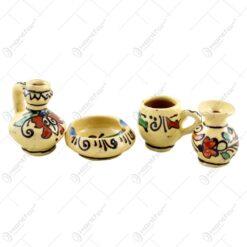 Set 4 accesorii pentru uz casnic realizate din ceramica - Design popular