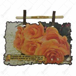 Afis realizat din hartie si invelit in ceara de albine - Design Religios / Flori - 2 modele