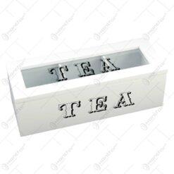 Cutie din lemn si sticla pentru depozitarea filtrelor de ceai - Design Elegant