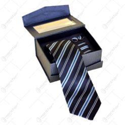 Set cadou pentru barbati - Cravata. butoni si batista - Design elegant - Diverse modele