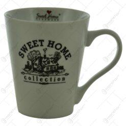 "Cana realizata din portelan - Design inscriptionat ""Sweet Home"""