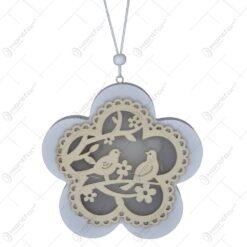 Decor cu led in forma de floare realizat din lemn- Diverse modele