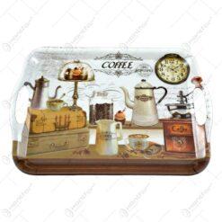 Tava cu manere realizata din material plastic - Design Coffee - Mare (35x25 CM)