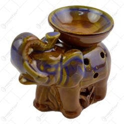 Candela aromaterapie realizata din ceramica in forma de elefant - 2 modele (Model 1)