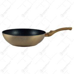 Tigaie wok realizata din aluminiu - Rose Gold