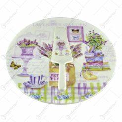 Platou realizat din ceramica cu paleta - Lavanda Gift (Model 1)