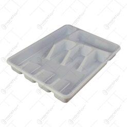 Suport pentru tacamuri realizat din plastic - Alb