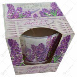 Lumanare parfumata in pahar de sticla - Design Lavender Basket