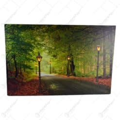 Tablou cu lumini led - Design cu peisaj de toamna