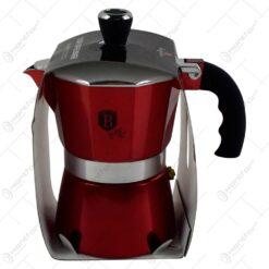 Espressor cafea pentru aragaz - Pentru 3 cesti - Burgundy (Model 1)