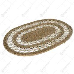 Rogojina impletita ovala - 60X30 cm