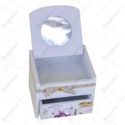 Cutie pentru bijuterii cu sertar - Lavanda Jardin