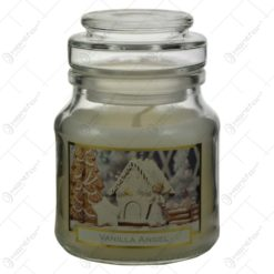 Lumanare parfumata de Craciun in borcan cu capac - Vanilla Angel