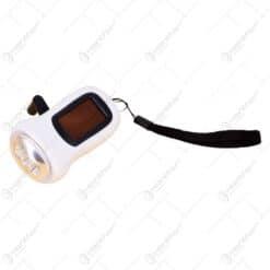 Lanterna plastic incarcabil manual si cu energie solara