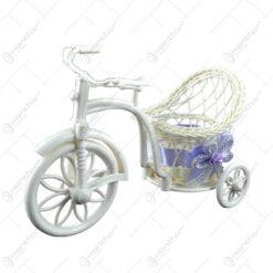 Suport pentru flori in forma de bicicleta - Design cu fundita si floare - Diverse modele