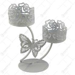 Sfesnic realizat din metal - Design cu fluture (Model 2)