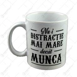 Cana Boss Mug - Nu-i distractie mai mare decat munca