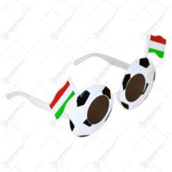Ochelari party realizat din material plastic in forma de minge - Drapelul Ungariei