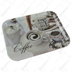 Tava pentru servire realizata din plastic - Design Coffee