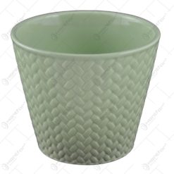 Ghiveci realizat din dolomit - Verde (Model 1)
