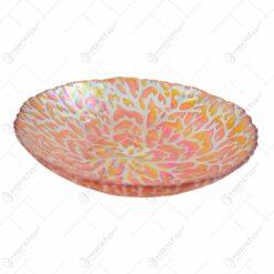 Bol decorativ realizat din sticla colorata - Portocaliu (Model 1)