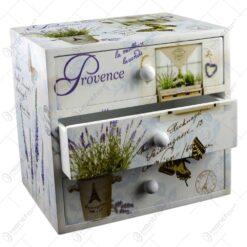 Cutie pentru bijuterii cu 3 sertare - Lavanda Jardin