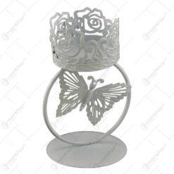 Sfesnic realizat din metal - Design cu fluture (Model 1)