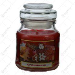 Lumanare parfumata de Craciun in borcan cu aroma de turta dulce - Gingerbread