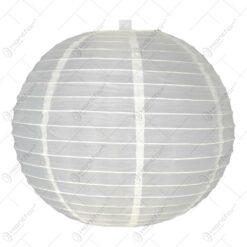 Lampion realizat din hartie in forma de glob - Crem (40cm)