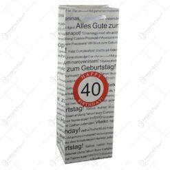 Punga cadou pentru bauturi realizata din hartie laminata - Boldog szuletesnapot 40/Happy birthday 40