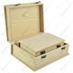 Set 4 cutii hobby realizate din lemn